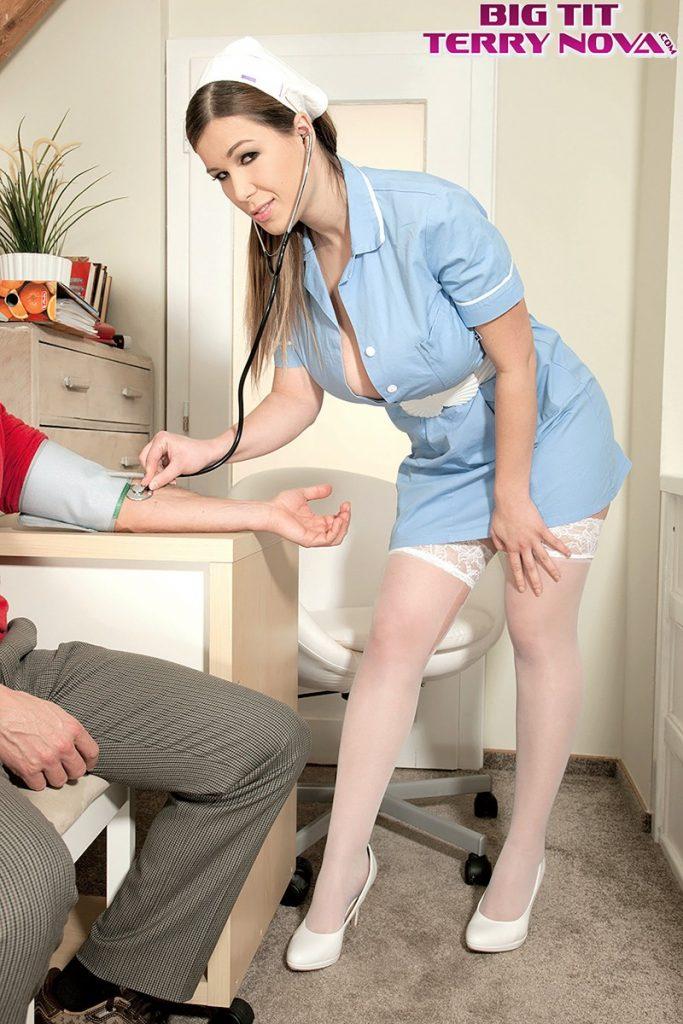 Big tits nurse