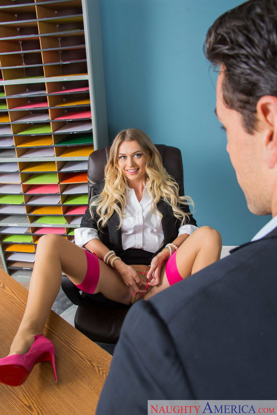 Allover30 Natalia blonde secretary natalia starr seduces her boss with a no