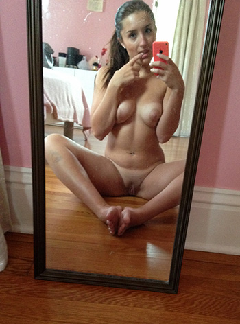 Nude selfie and nice tits